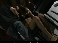 Unlucky day for serf angel Aspen Richardson. Her Slavemaster has a large mood for a painful sadomasochism. Hard spanked, whipped and fingered this sweetheart is complete dominated and used below his kinky control